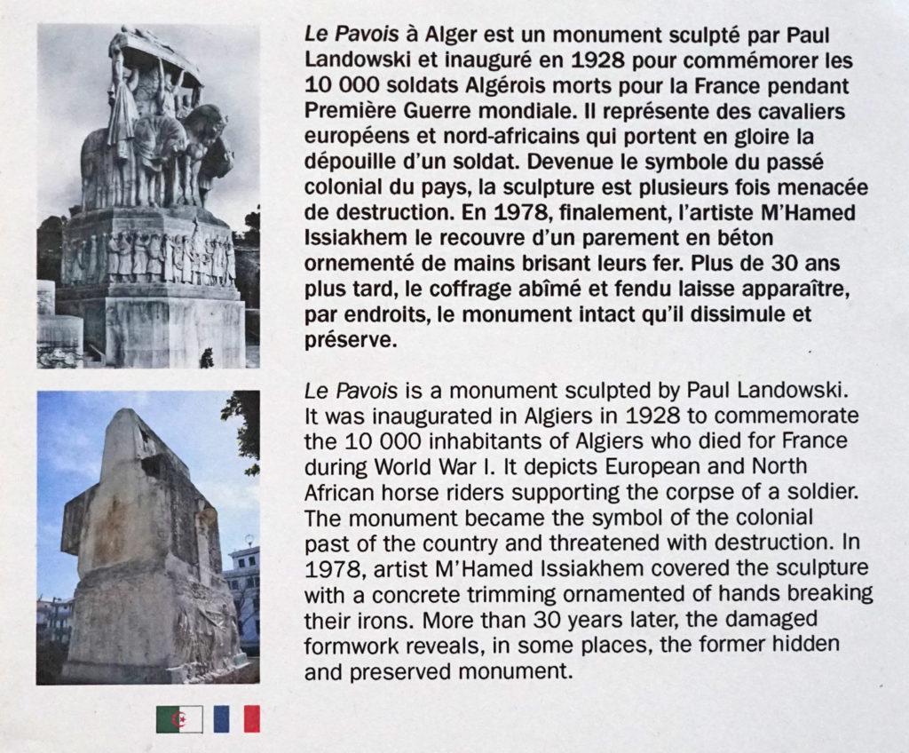 Historique du Pavois d'Alger